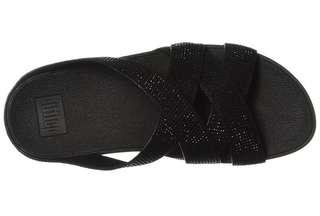 Fitflop  Women's Slinky Rokkit Criss-Cross Slide Sandal 39/8 size