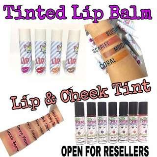 Lip and Cheek Tint / Tinted Lip Balms