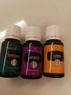 Young Living Essential Oil peppermint lavender lemon