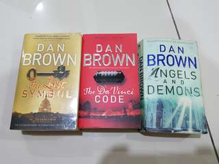 Dan Brown - The Lost Symbol, The Da Vinci Code, Angels And Demons