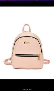 Bagpack and crossbody bag