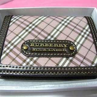 NEW! Burberry Blue Label Card Holder