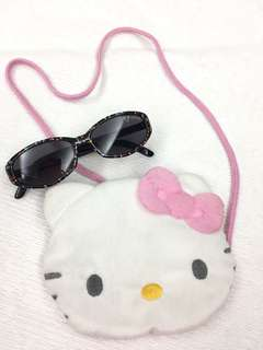 Bundle: Hello Kitty purse and mickey mouse shades