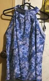 Chiffon Top - blue rose