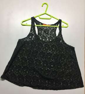 BLACK MINT lace sando