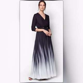 Zalia Wrap Ombre Maxi Dress (NEW)