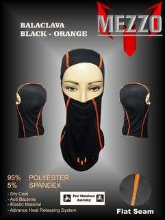Masker Wajah / Cover Wajah Balaclava Mezzo Orange