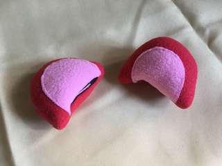紅色 耳朵 貓耳 動物耳 cosplay 造型髮夾