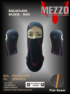 Masker Wajah / Cover Wajah Balaclava Mezzo Merah