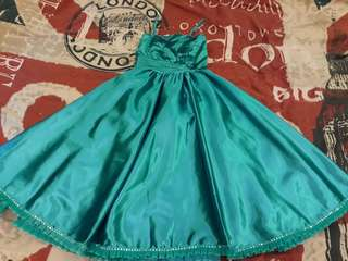 blue gown for kid