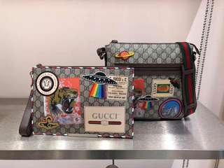 Gucci Supreme Courrier Pouch and Messenger Bag