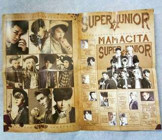Super Junior folded double poster