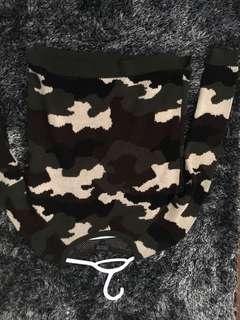 Topshop camo sweater