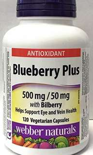 🇨🇦🇨🇦Webber Naturals Blueberry Plus with Bilberry 500mg