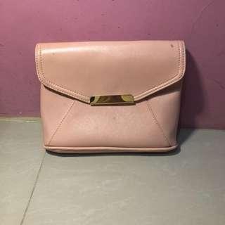 TAPS pink clutch