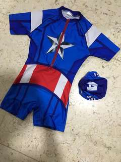 Baju Renang Captain America
