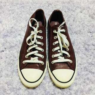 Converse Chuck Taylor All Star Limited Edition Burgundy Ox Heart Leather Low Cut Sneakers