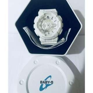 Authentic Casio BabyG BA110 White Ladies Watch