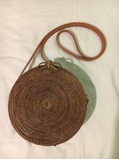 MANGO Inspired Rattan Bag Dark Brown from Bali Indonesia