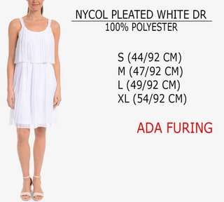Branded NYCO Pleated White Dress