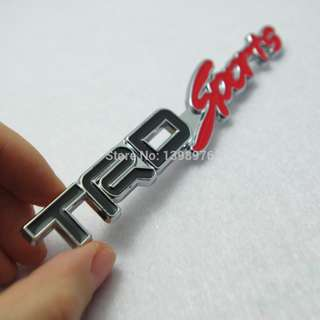 Black/Red Toyota TRD Sports Emblem Metal Double Adhesive