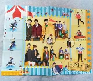 JYJ folded poster