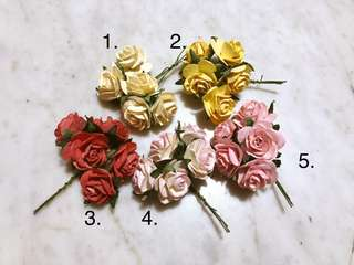 Mulberry Paper Rosettes Roses Florals Flowers