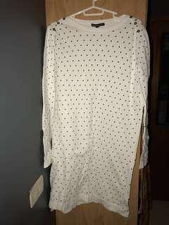 Mango polka dots sweater dress