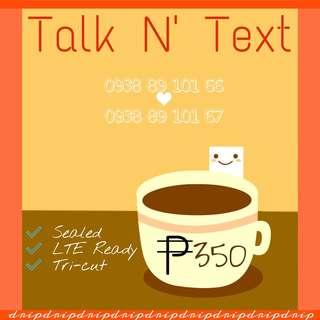Talk N' Text Couple's Vanity Number Prepaid Sim