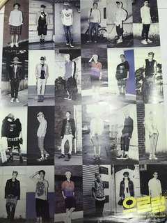 EXO GROWL REPACKAGE ALBUM POSTER