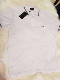 Authentic brand new Armani Jeans polo t white xl slim fit