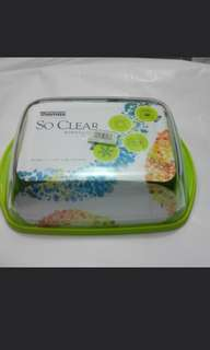 Rectangular Glass Dish with Lid (made in France) 玻璃有蓋 (法國製造).