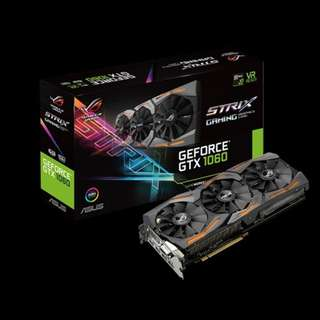 ASUS STRIX GEFORCE GTX 1060 OC EDITION 6GB GDDR5 GRAPHICS CARD