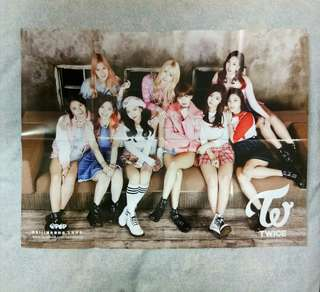 Twice folded poster