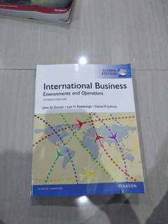 Buku international business environments and operations pearson
