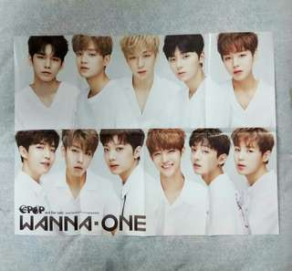 Wanna One folded poster