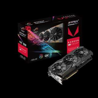 ASUS ROG STRIX RX VEGA 56 OC EDITION 8GB GRAPHICS CARD