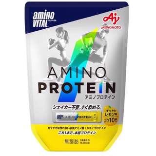 🚚 日本 Amino Vital 胺基酸蛋白質 10包 檸檬風味 配合必需胺基酸和乳清蛋白的蛋白質
