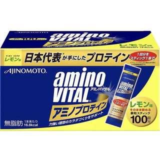 🚚 日本 Amino Vital 胺基酸蛋白質 100包 檸檬風味 配合必需胺基酸和乳清蛋白的蛋白質