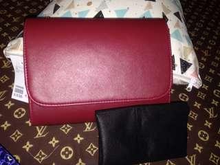 H&M mini clucth maroon
