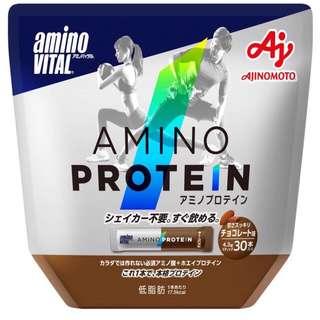 🚚 日本 Amino Vital 胺基酸蛋白質 30包 巧克力風味 配合必需胺基酸和乳清蛋白的蛋白質