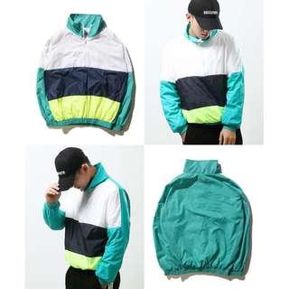 GOSHA RUBCHINSKIY Tricolor Zip Collar Sport Track Jacket