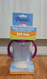 Wide Neck Bottle with Spout & Handle