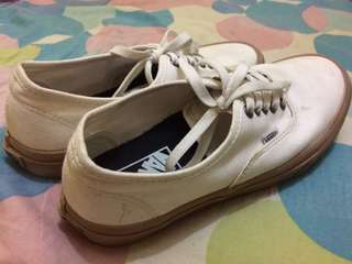 Vans authentic white gum