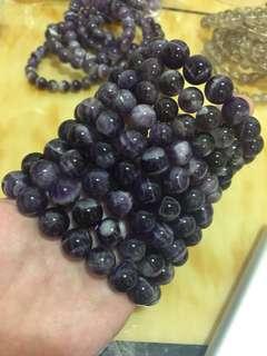 天然水晶 夢幻紫晶12mm手鍊
