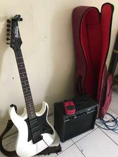 Satu set gitar ibanez gio
