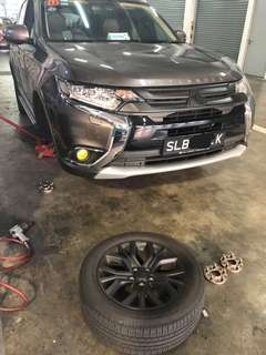 SBA Aluminium light weight wheel spacers 15mm 20mm for Mitsubishi Outlander 2.4L Auto and other vehicle models available too.
