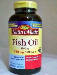 🇺🇸🇺🇸Nature Made Fish Oil 1200 mg (360 mg OMEGA-3)