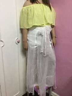 Off Shoulder & Overlap Pants