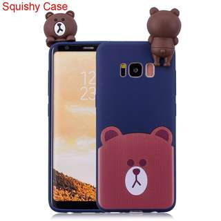 PO Samsung Bear Soft Case with Squishy toy